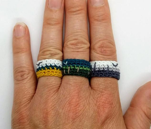 Crochet landscape rings pattern