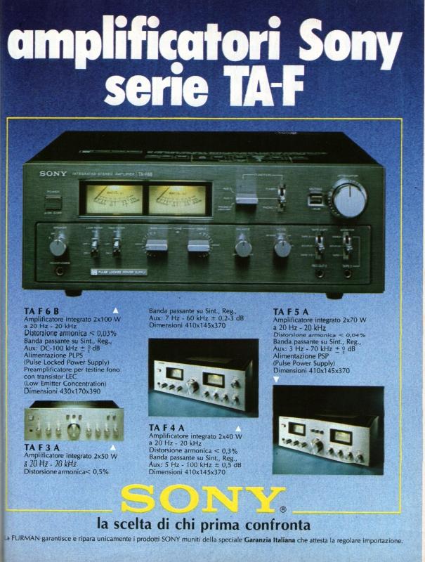Amplificatori Sony TA-F