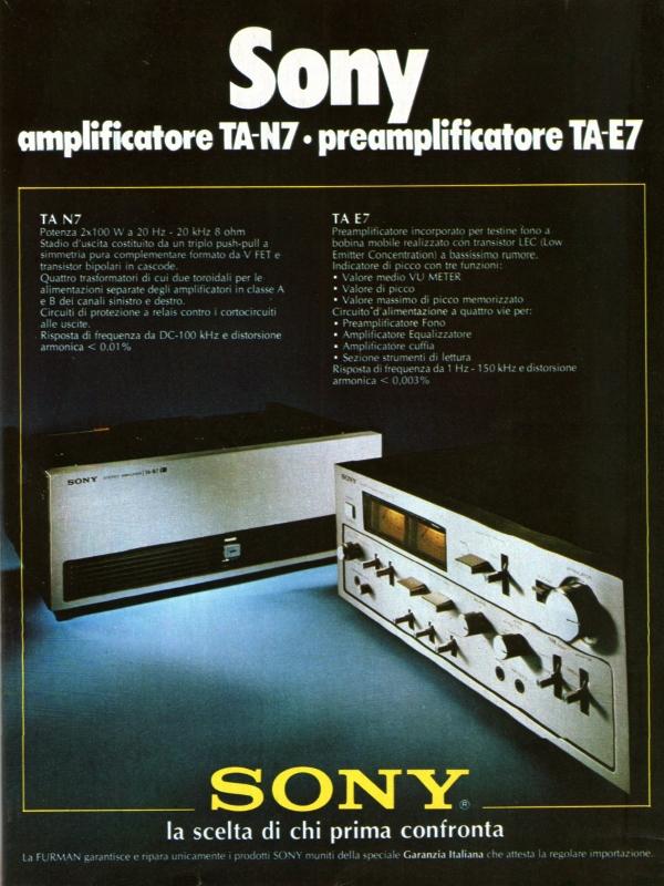 Sony power amp