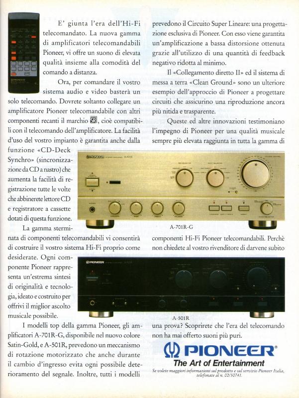Pioneer amplificatori