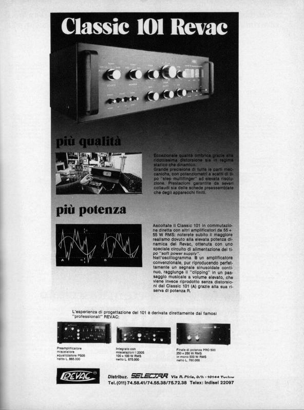 Amplificatori Revac