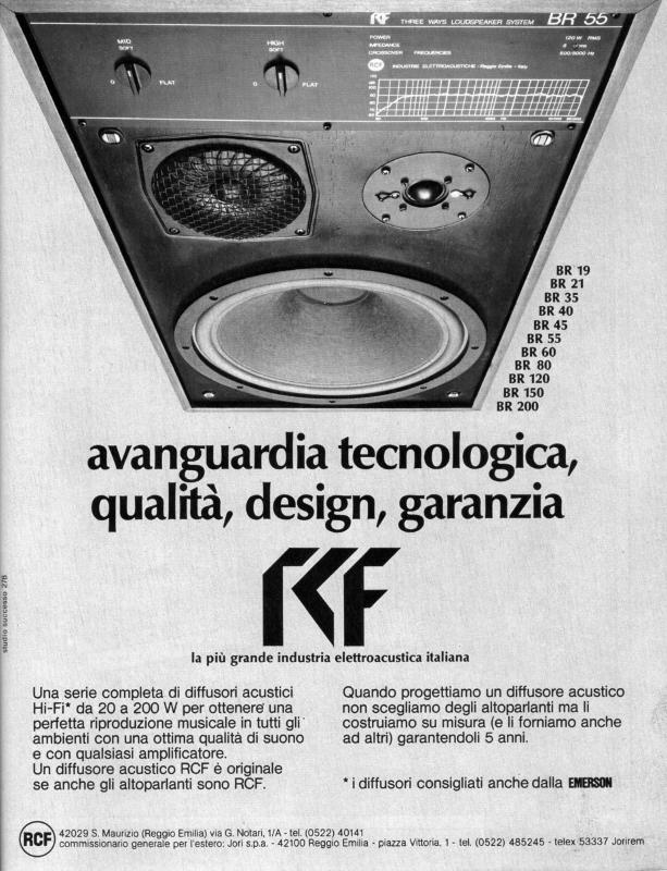 Diffusori acustici RCF