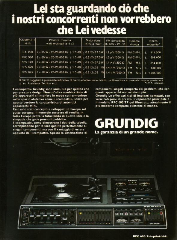 Grundig stereo system