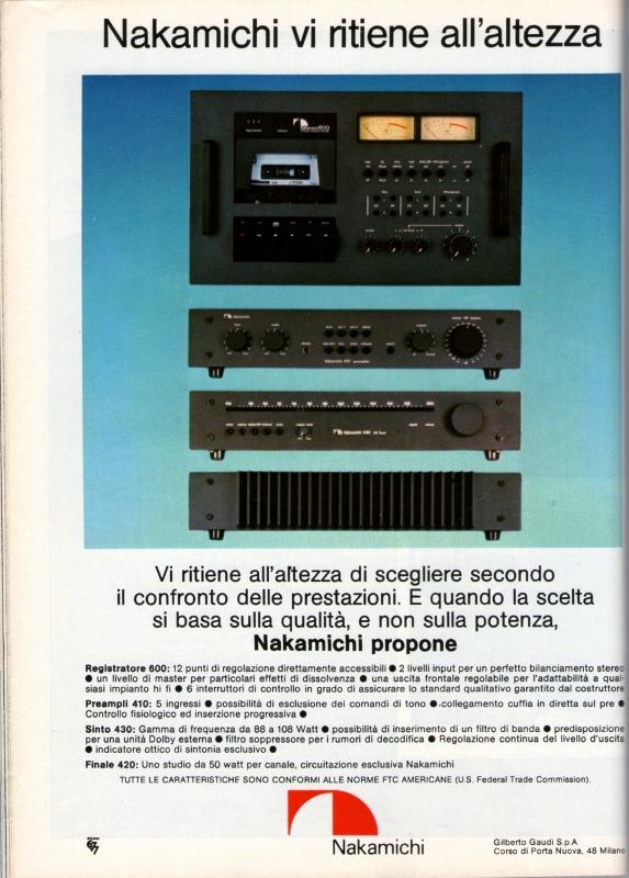 Nakamichi audio system