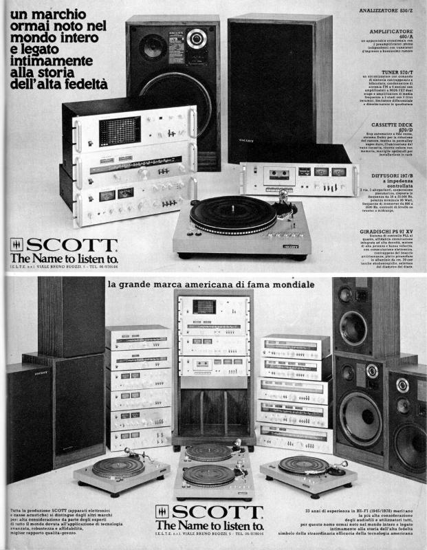 HH Scott HiFi system