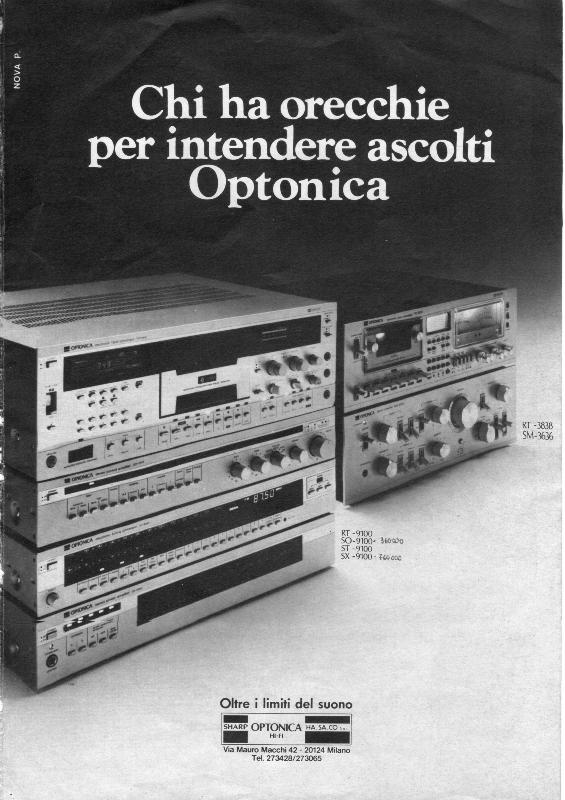 Optonica audio system