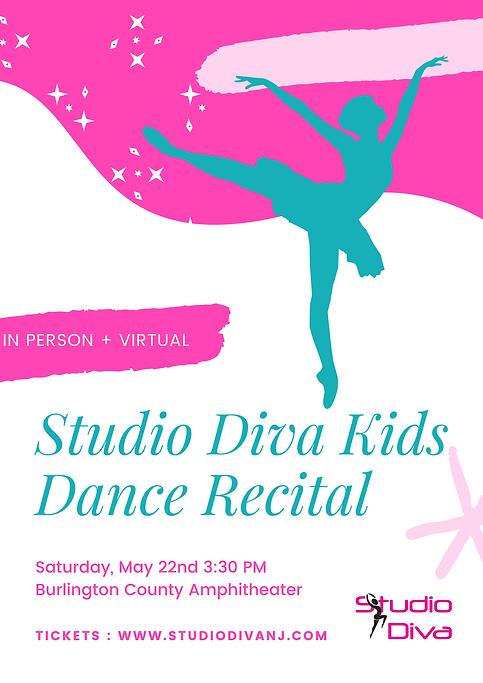 Pink and Teal Ballet Dancer Dance Poster