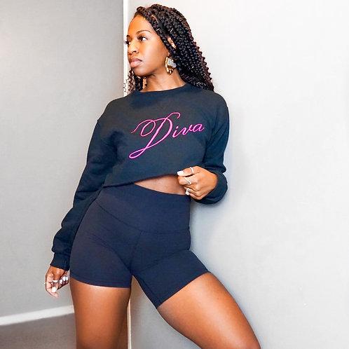 Diva Crop Sweatshirt