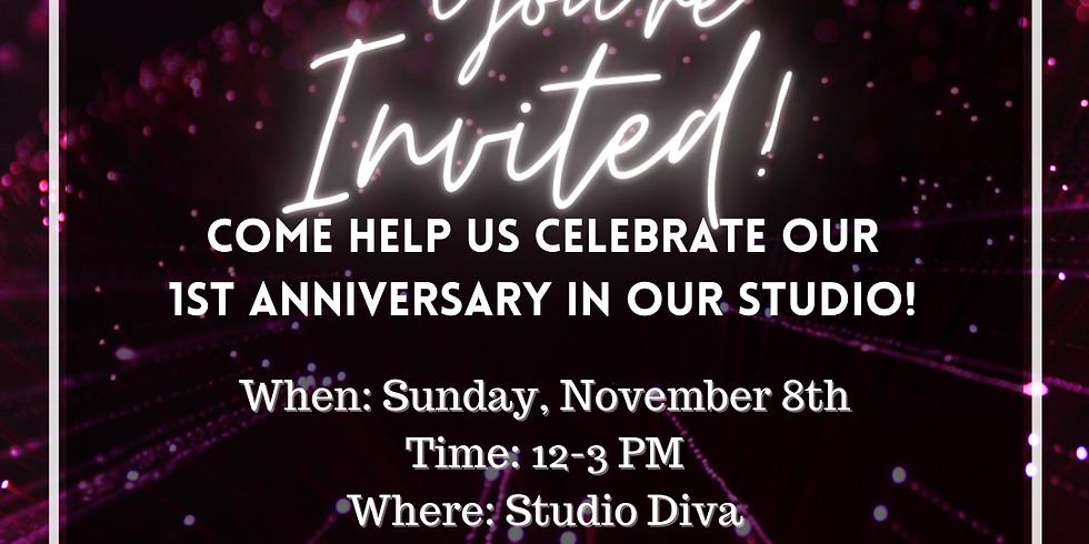 Studio Diva 1 Year Anniversary Celebration!