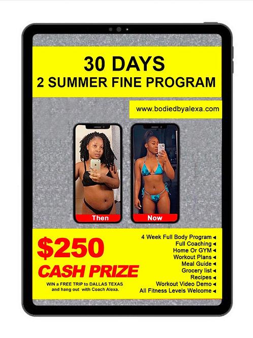 30 DAYS TO SUMMER FINE #SummerChallenge runs through May-September