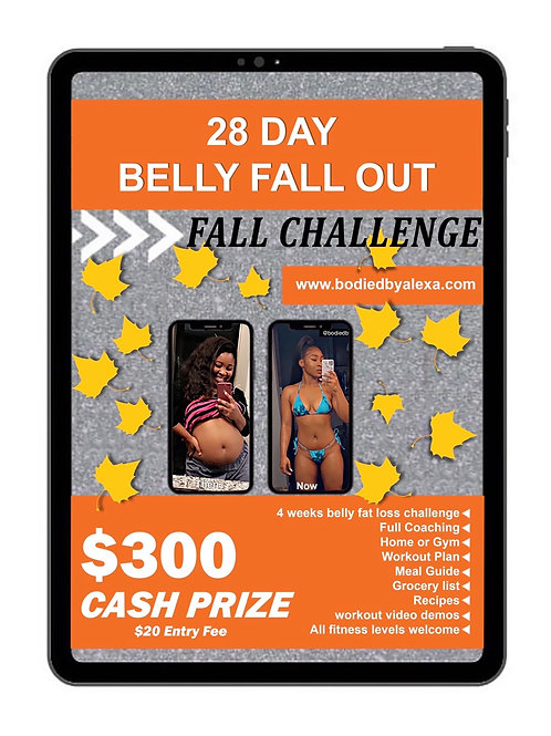 28 Day Belly Fall Out #FallWeightlossChallenge
