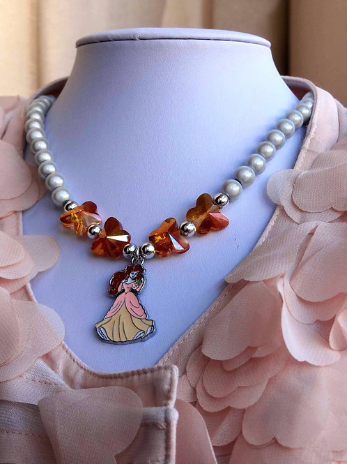 Disney's Inspired Princess Butterfly Necklaces