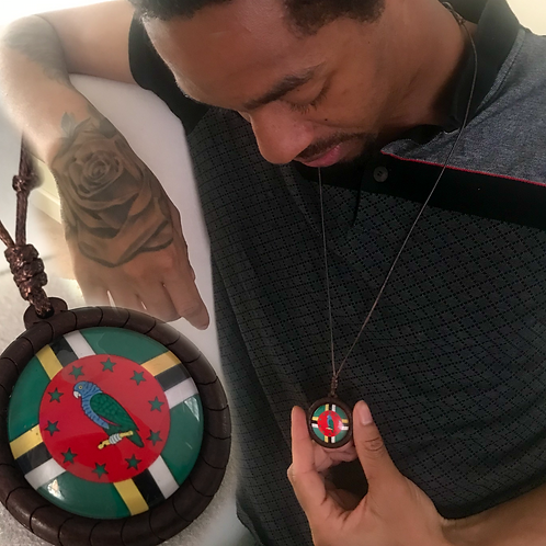 Rep Your Island Wooden Necklace