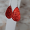 Thumbnail: Sequined Leather Drop Earrings