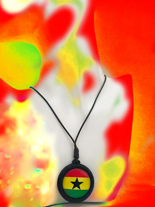Rep Your African Country Wooden Necklace