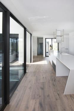 Natural Hardwood hallway