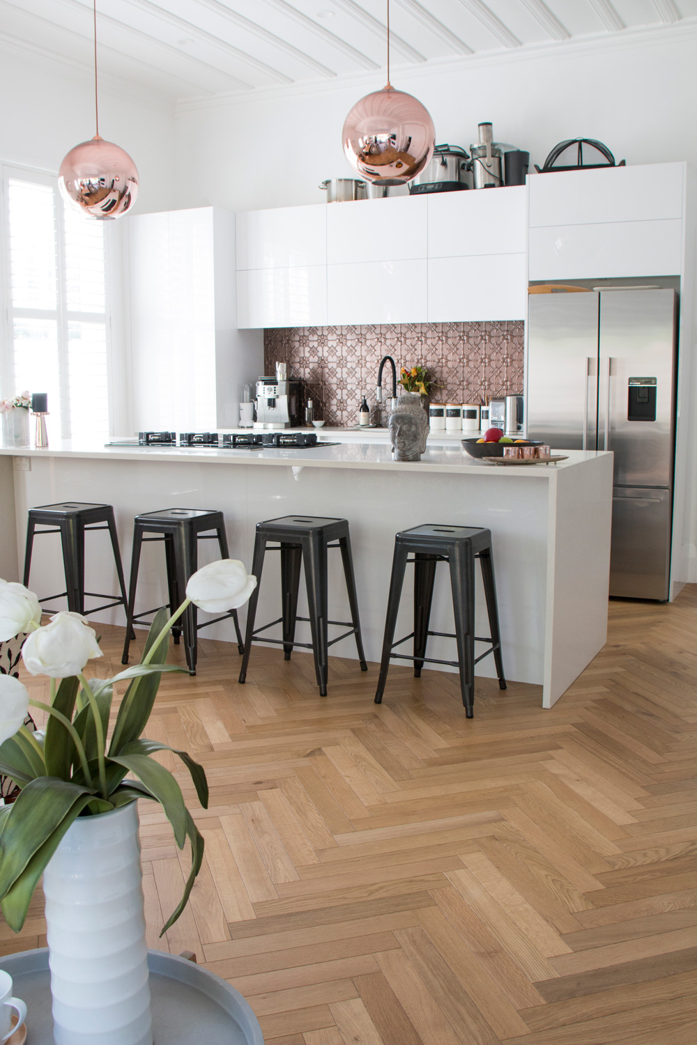 Herringbone Bone pattern - Kitchen