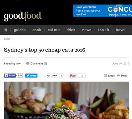 Good Food - TOP 50 cheap eats 2016
