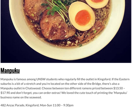 Kingsford article on Sydney ramen guide by EAT DRINK PLAY