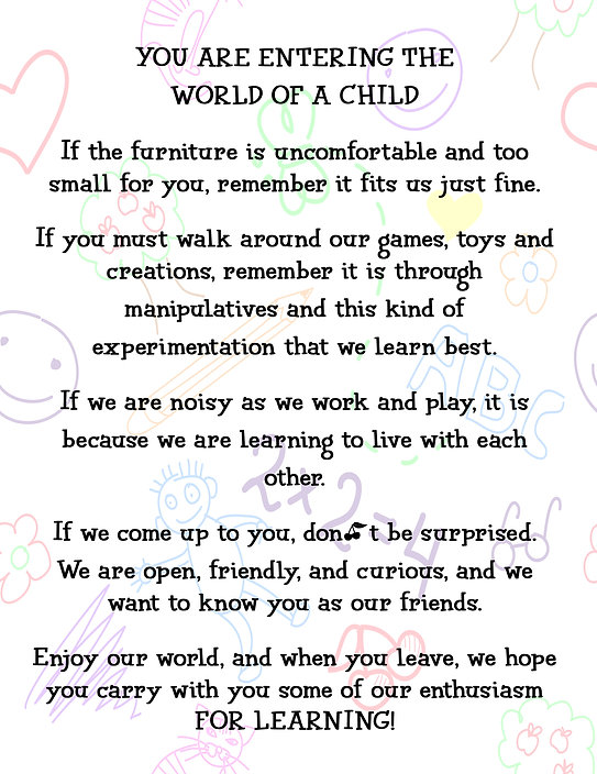 YOU ARE ENTERING THE WORLD OF A CHILD.jp