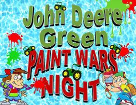 John Deere Green Paint Wars Night - Webs