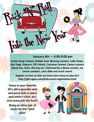 Rock and Roll Into The New Year Flyer 20