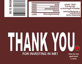 Hershey Wrapper - My Design Thank You -