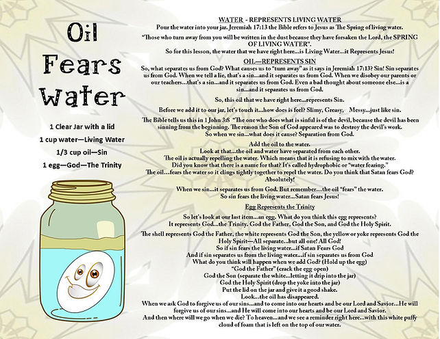 Oil and Water Don't Mix - My Object Less