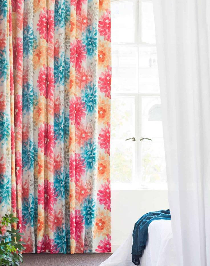 Curtains Floral - Redcliffe Curtain Worl