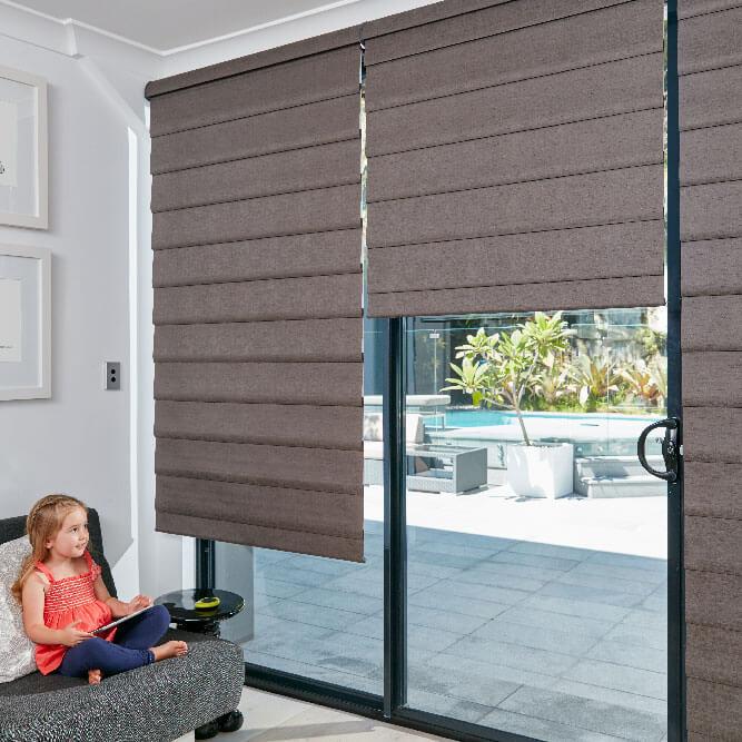 Modern Roman Shades - Mackay Curtain Mak