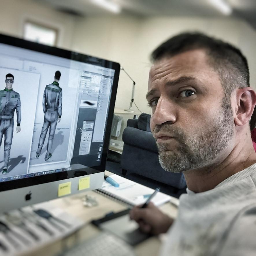 Designer Laurent at work
