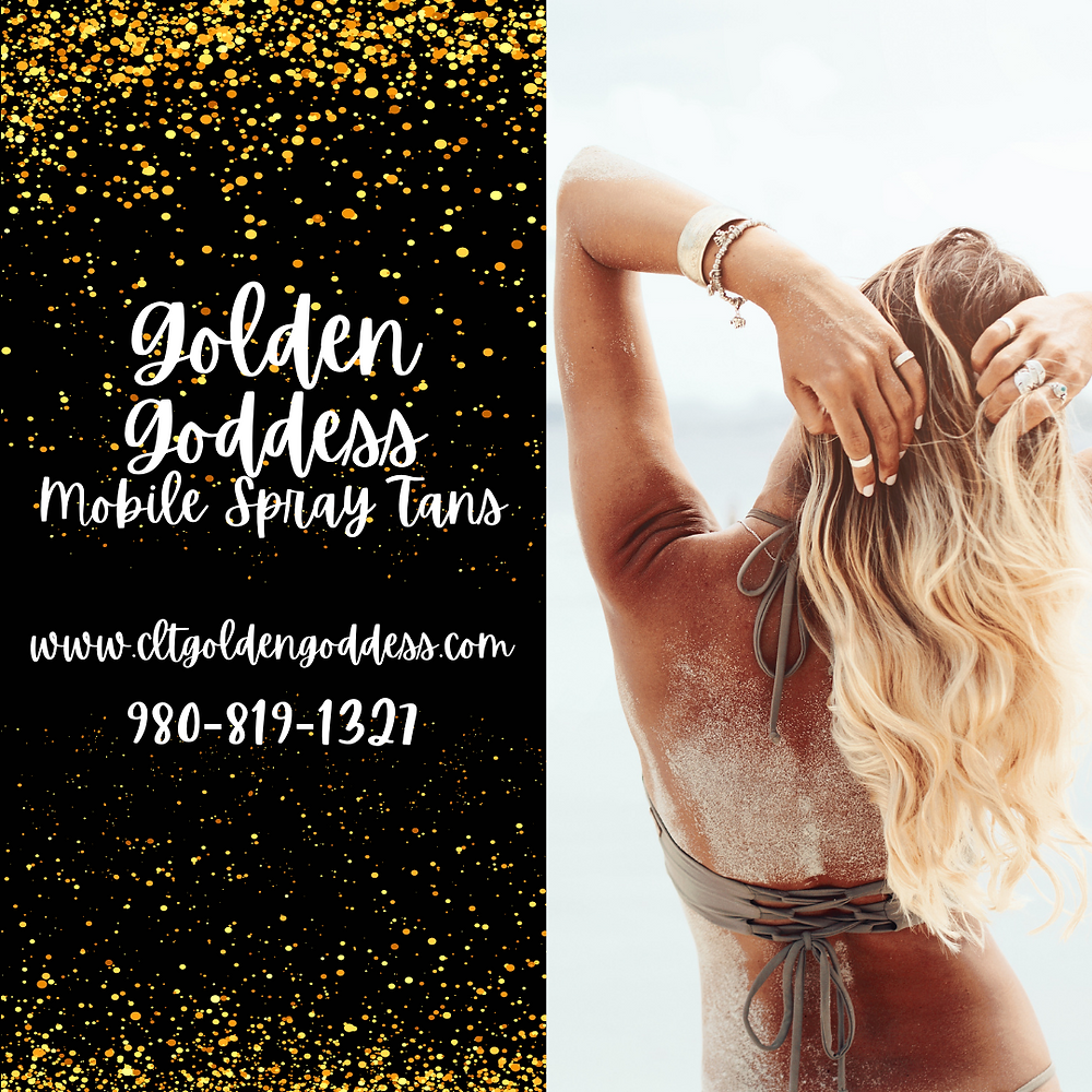 Get your spray tan with Golden Goddess!