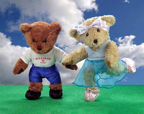 MMEL Melody Bear & Miligan Bear   dancin