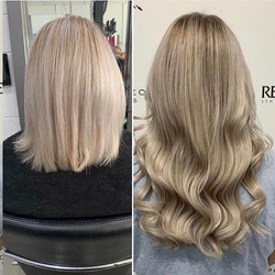 Gorgeous hair extensions and colour tran