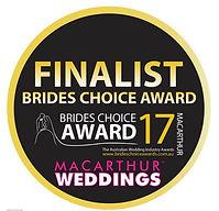 Brides Choice Awads Finalist