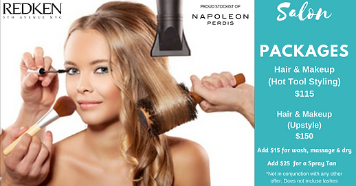 Hair and Makeup Packages