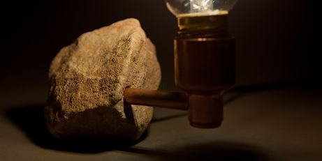sandstone and copper desk lamp