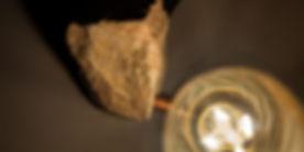 sandstone and copper desk lamp