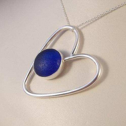 Cobalt Blue 'Heartthrob' Pendant