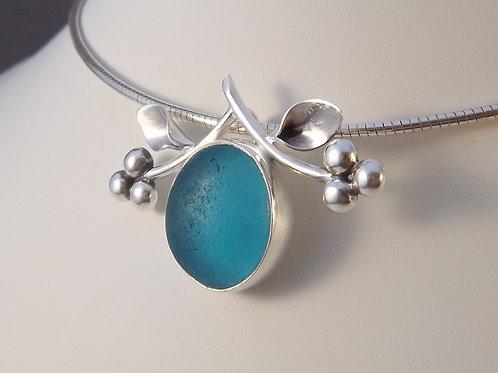 Turquoise Blue 'Vine' Pendant