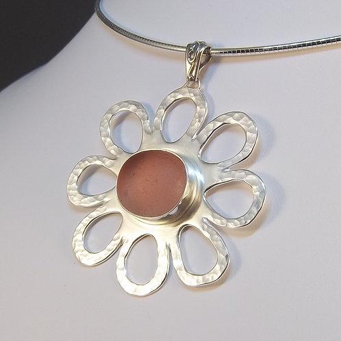 Pink 'Whimsy Flower' Pendant