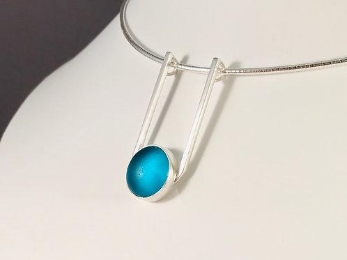 Turquoise Blue 'SeaCatcher' Pendant