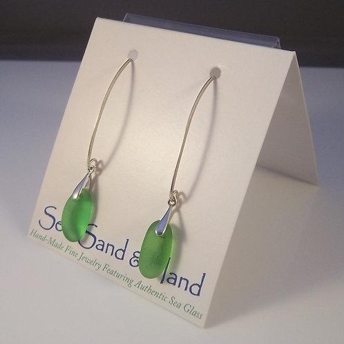 Kelly Green Earrings (Long Wires)