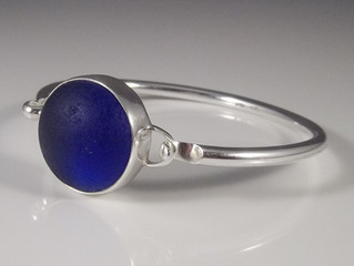 Where does cobalt blue sea glass come from?