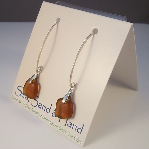 Amber Earrings (Long Wire)