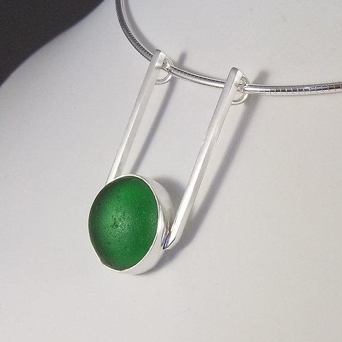 Lime Green 'SeaCatcher' Pendant