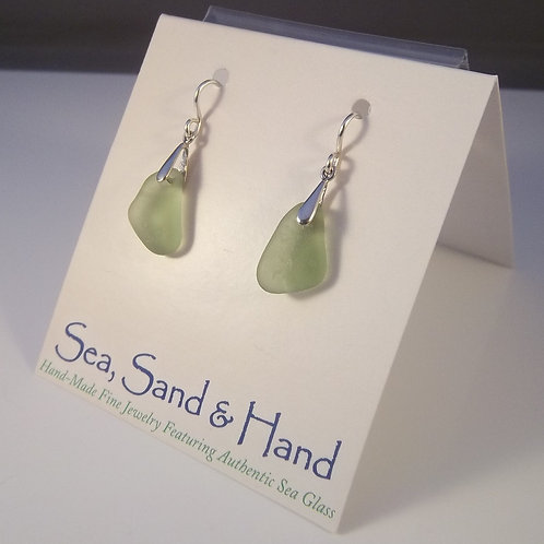 Citron/Olive Green Earrings (Short Wire)