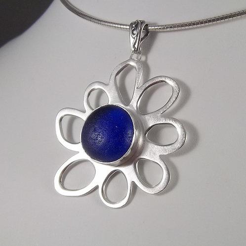 Cobalt Blue 'Whimsy Flower' Pendant