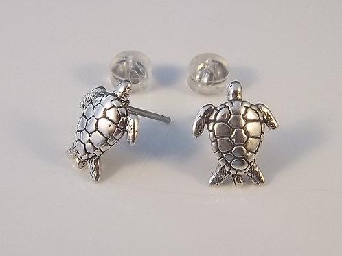 Sterling Silver Sea Turtle Post Earrings