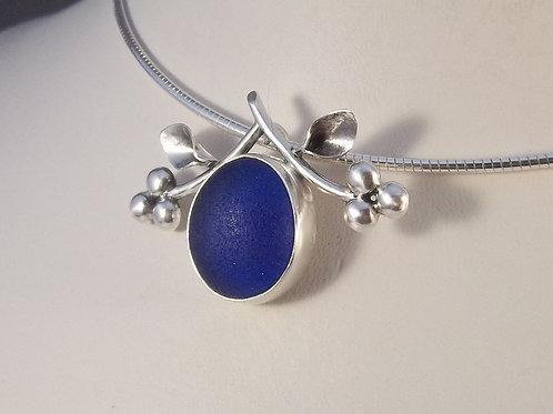 Cobalt Blue Vine Pendant